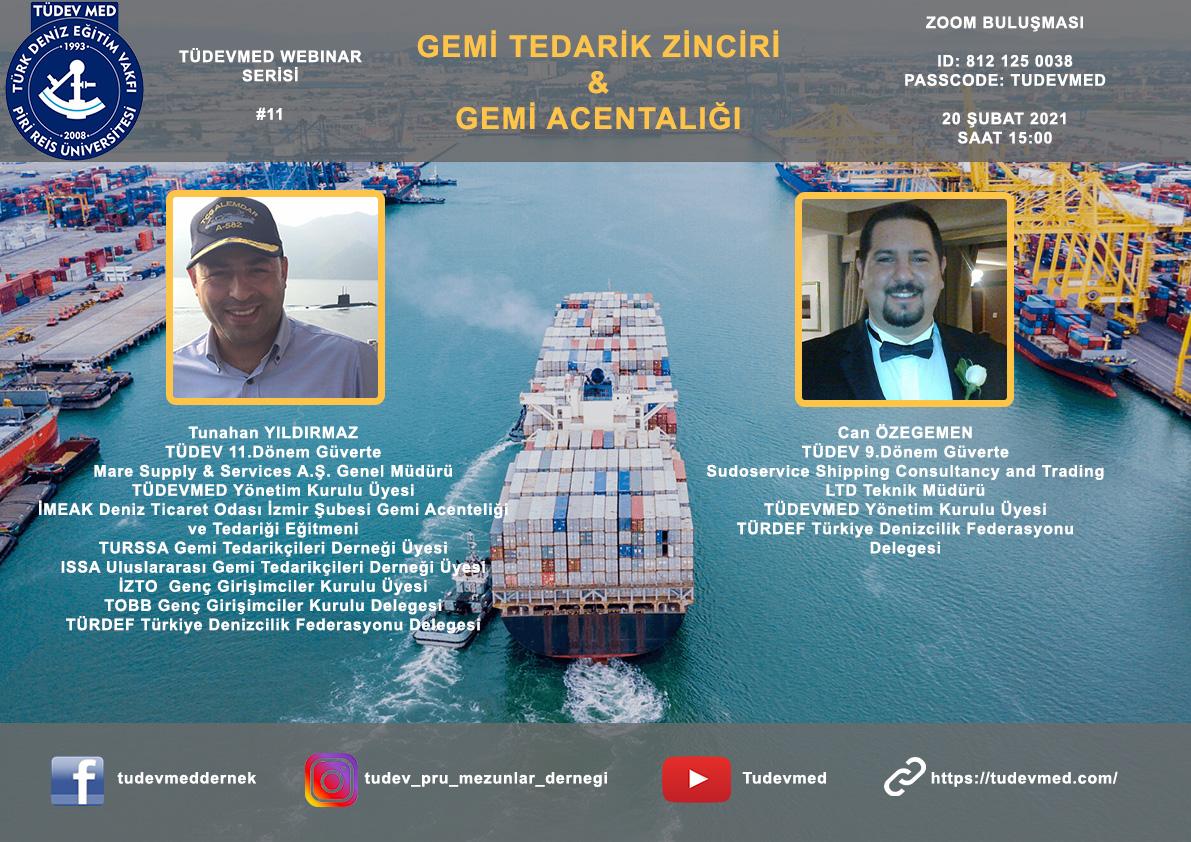 TÜDEVMED Webinar Serisi #11 - Gemi Tedarik Zinciri - Gemi Acentalığı